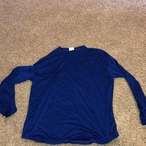 Dodger blue long sleeve Rawlings shirt